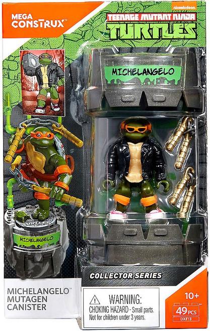 Mega Construx Teenage Mutant Ninja Turtles Collector Michelangelo Mutagen Canister