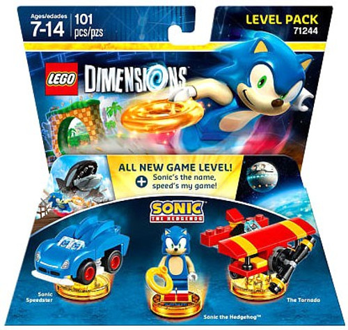 LEGO Dimensions Sonic the Hedgehog Speedster, Sonic & Tornado Level Pack #71244