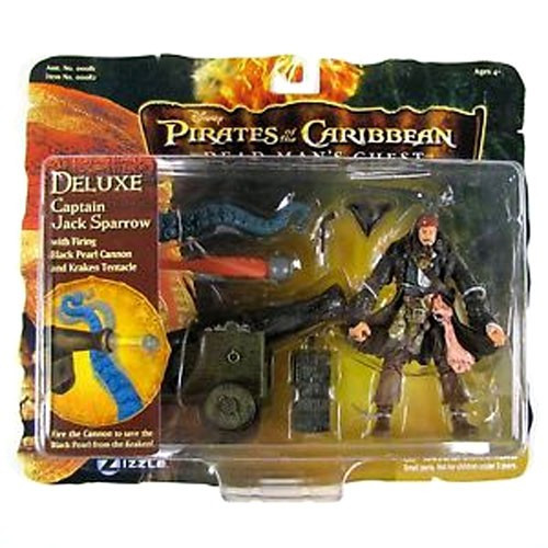 Pirates of the Caribbean Dead Man's Chest Captain Jack Sparrow Action Figure [with Firing Cannon & Kraken Tentacle]