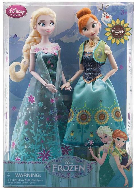 Disney Frozen Frozen Fever Anna & Elsa Exclusive 12-Inch Doll 2-Pack [Summer Solstice, Damaged Package]