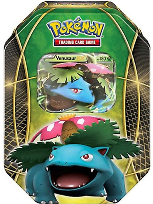 Pokemon Trading Card Game 2016 Power Beyond Venusaur-EX Tin Set [4 Booster Packs & Promo Card!]
