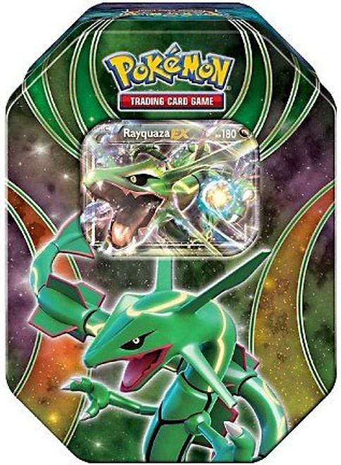 Pokemon Trading Card Game 2016 Power Beyond Rayquaza-EX Tin Set [4 Booster Packs & Promo Card!]