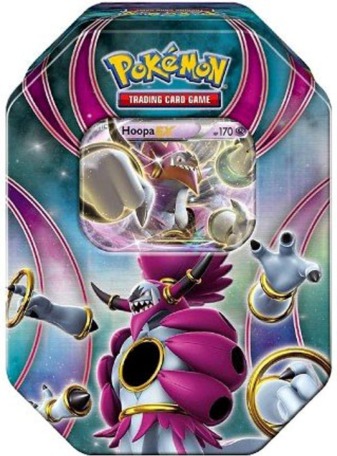 Pokemon Trading Card Game 2016 Power Beyond Hoopa-EX Tin Set [4 Booster Packs & Promo Card!]