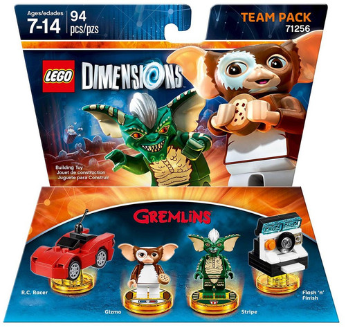 LEGO Dimensions Gremlins RC Racer, Gizmo, Stripe & Flash n Finish Team Pack #71256