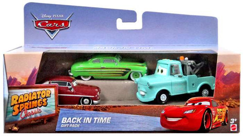 Disney / Pixar Cars Radiator Springs Classic Back in Time Diecast Car 3-Pack