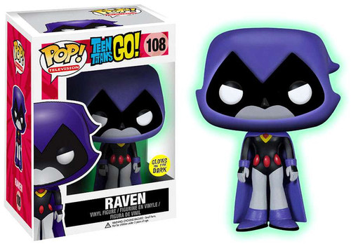 Funko Teen Titans Go! POP! TV Raven Exclusive Vinyl Figure #108 [Purple Glow-in-the-Dark]
