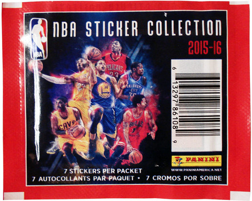 NBA Panini 2015-16 Basketball Sticker Collection Pack [7 Stickers]