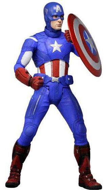 NECA Marvel Avengers Quarter Scale Captain America Action Figure [Damaged Package]