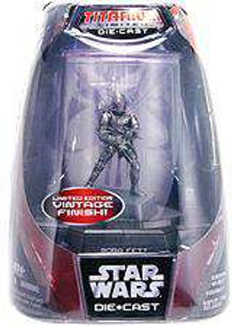 Star Wars Return of the Jedi Titanium Series 2007 Boba Fett Diecast Figure [Vintage Finish, Damaged Package]