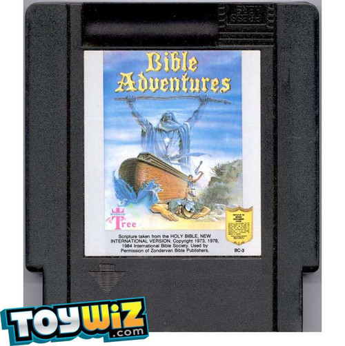 Nintendo Bible Adventures Video Game Cartridge [Played Condition]