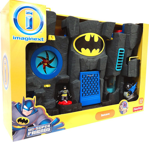 Fisher Price DC Super Friends Imaginext Batcave Exclusive Figure Set [Exclusive Black Version]
