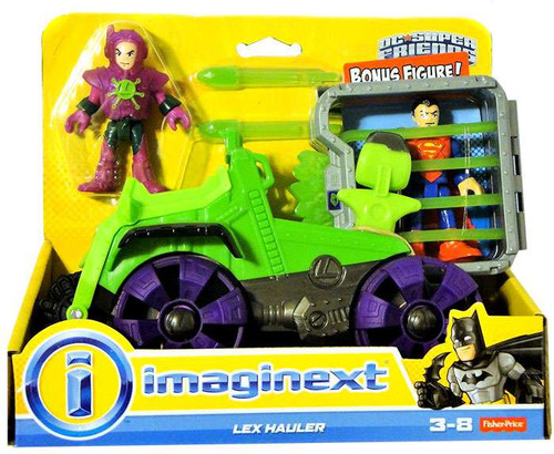 Fisher Price DC Super Friends Imaginext Lex Luthor Hauler Figure Set [Includes Superman Figure!]