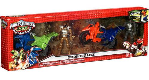Power Rangers Dino Super Charge Gold & Graphite Rangers Dino Cycle Mega 2-Pack