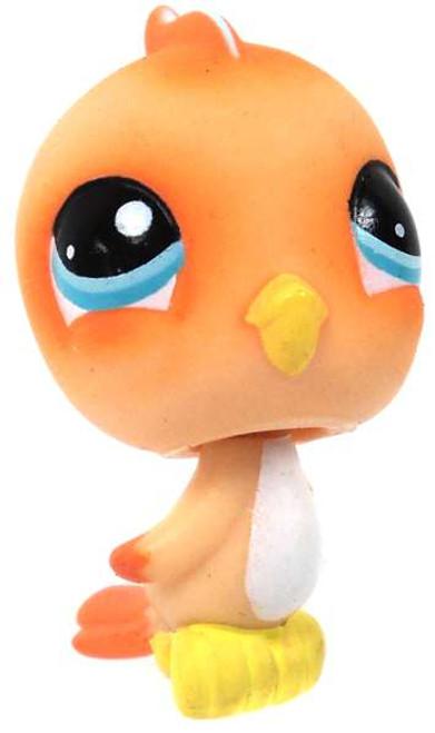 Littlest Pet Shop Orange Birdie Figure [Loose]