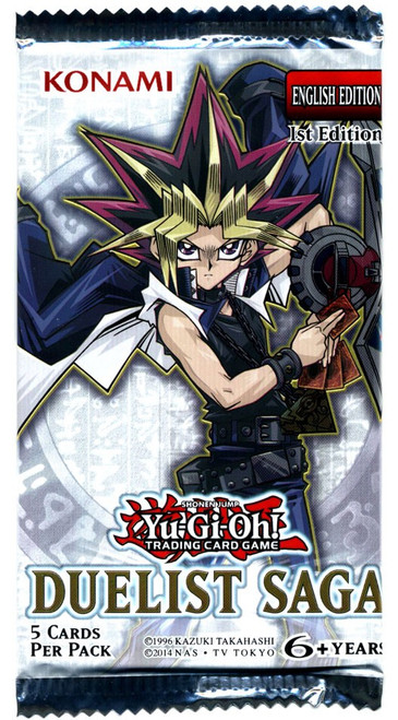 YuGiOh Trading Card Game Duelist Saga Booster Pack [5 Cards]
