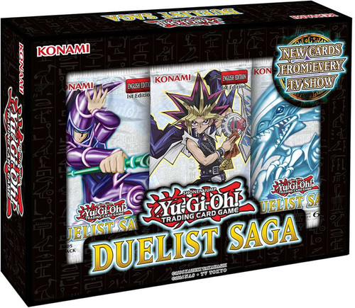 YuGiOh Trading Card Game Duelist Saga MINI Box [3 Booster Packs]