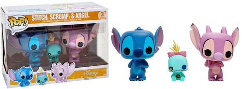 Funko Lilo & Stitch POP! Disney Stitch, Scrump & Angel Exclusive Vinyl Figure 3-Pack
