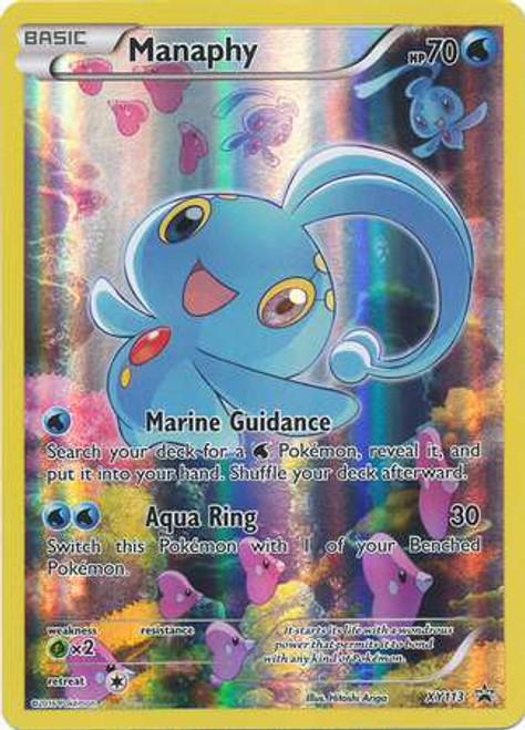 Pokemon X & Y Promo Promo Holo Full Art Manaphy XY113