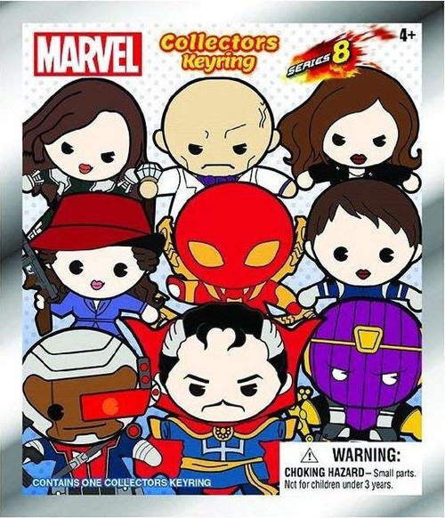 3D Figural Keyring Marvel Series 8 Mystery Pack [1 RANDOM Figure]
