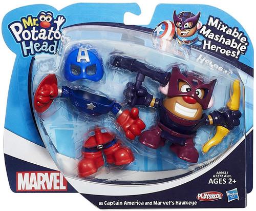 Marvel Playskool Mixable, Mashable Heroes! Captain America & Hawkeye Mr. Potato Head