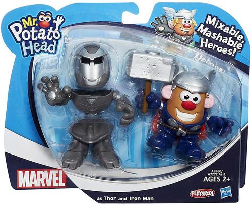 Marvel Playskool Mixable, Mashable Heroes! Iron Man & Thor Mr. Potato Head