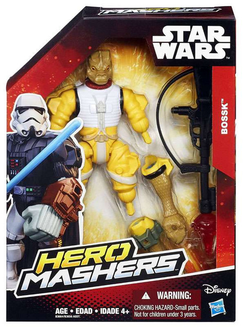 Star Wars The Force Awakens Hero Mashers Bossk Action Figure [Damaged Package]