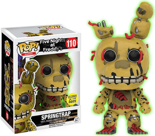 Funko Five Nights at Freddy's POP! Games Springtrap Exclusive Vinyl Figure #110 [Glow-In-The-Dark]