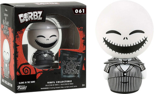 Funko Nightmare Before Christmas Dorbz Jack Skellington Exclusive Vinyl Figure #061 [Glows-in-the-Dark]