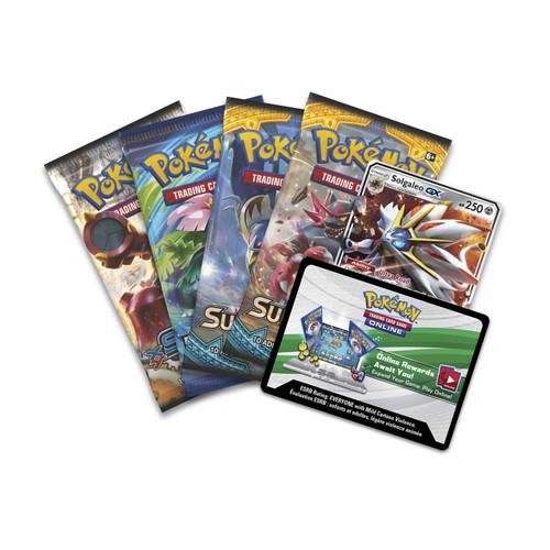 Pokemon Trading Card Game 2017 Legends of Alola Solgaleo-GX Tin Set [4 Booster Packs & Promo Card!]