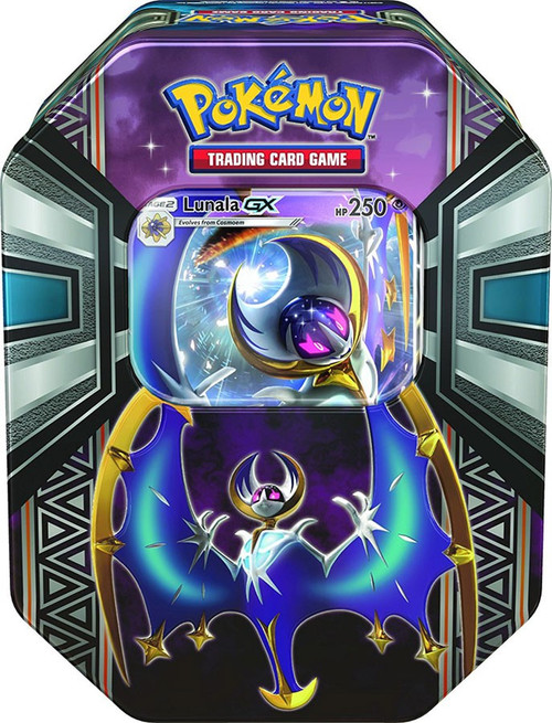 Pokemon Trading Card Game 2017 Legends of Alola Lunala-GX Tin Set [4 Booster Packs & Promo Card!]