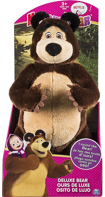 Masha and the Bear Bear 12-Inch Deluxe Plush [Squeeze Me Roar]