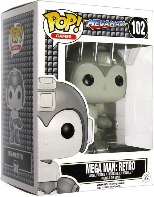 Funko POP! Games Mega Man Retro Exclusive Vinyl Figure #102 [Black & White]