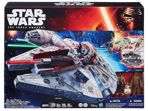 Star Wars The Force Awakens Battle Action Millennium Falcon 3.75-Inch Vehicle [Damaged Package]
