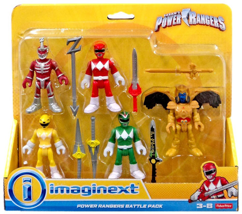 Fisher Price Power Rangers Imaginext Mighty Morphin Lord Zedd, Goldar, Green, Red & Yellow Rangers Mini Figure Battle 5-Pack