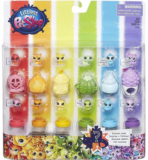 Littlest Pet Shop Rainbow Collection Rainbow Friends Mini Pet 12-Pack