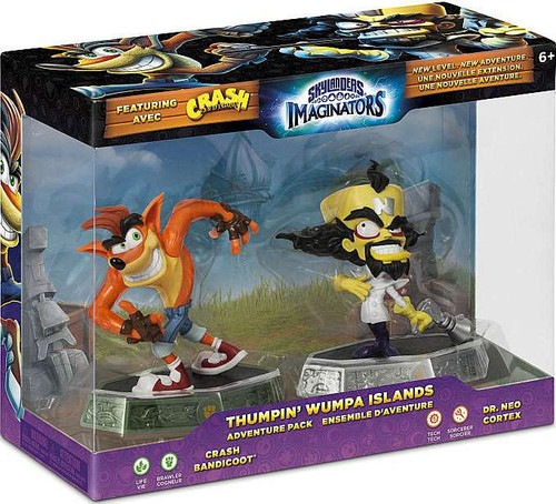 Skylanders Imaginators Thumpin Wumpa Islands Adventure Figure 2-Pack [Crash Bandicoot & Dr. Neo Cortex]