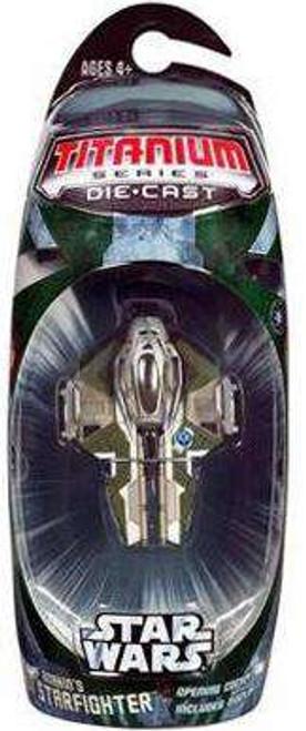 Star Wars Revenge of the Sith Titanium Series 2006 Anakin's Jedi Starfighter Diecast Vehicle [Green Trim, Loose]