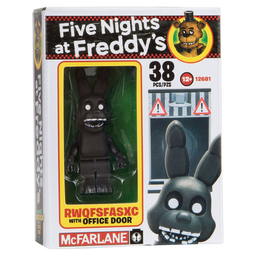 McFarlane Toys Five Nights at Freddy's RWQFSFASXC with Office Door Micro Figure Build Set