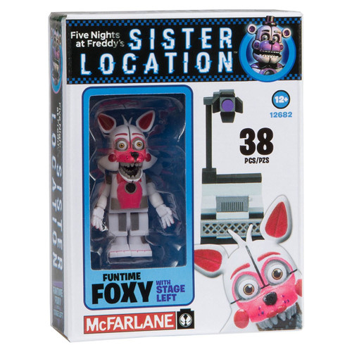 McFarlane Toys Five Nights at Freddy's Sister Location Funtime Foxy with Stage Left Micro Figure Build Set