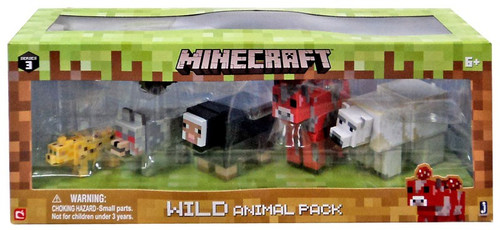 Minecraft Wild Animal Mini Figure 6-Pack
