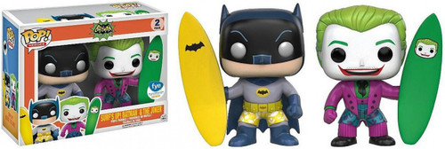 Funko Batman 1966 TV Series POP! Heroes Surf's Up Batman & Joker Exclusive Vinyl Figure 2-Pack