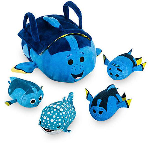 Disney Tsum Tsum Finding Dory 3.5-Inch Set of 4 Mini Plush & Bag