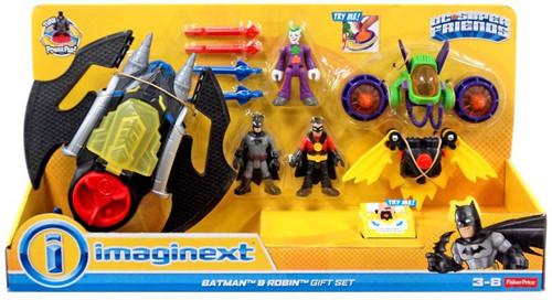 Fisher Price Imaginext DC Super Friends Batman & Robin (and Joker) Exclusive Gift Set