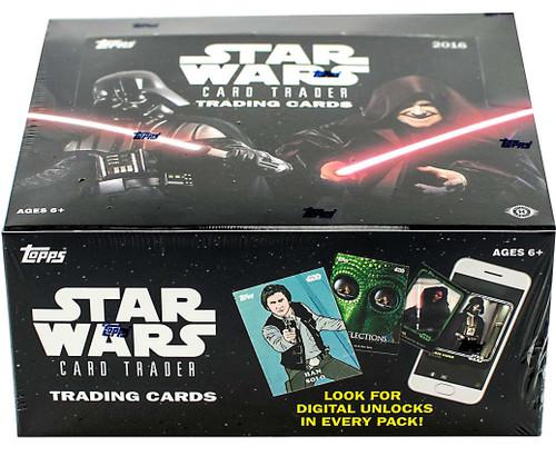 Star Wars Topps 2016 Card Trader Trading Card HOBBY Box [24 Packs]