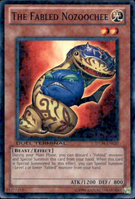 YuGiOh Duel Terminal 4 Duel Terminal Normal Parallel Rare The Fabled Nozoochee DT04-EN020