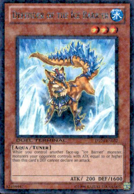 YuGiOh Duel Terminal 4 Duel Terminal Rare Parallel Rare Defender of the Ice Barrier DT04-EN032