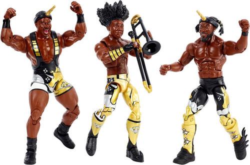 WWE Wrestling Elite Kofi Kingston, Big E & Xavier Woods Action Figure 3-Pack [Booty O's New Day Tag Team Celebration]