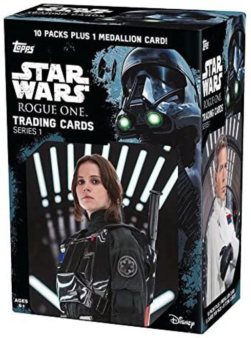 Star Wars Rogue One Trading Card BLASTER Box [10 Packs & 1 Medallion Card]