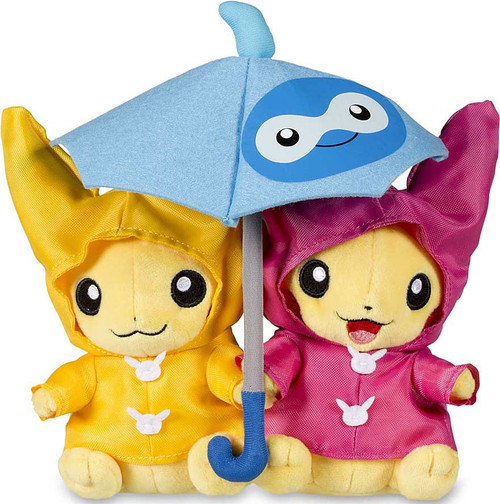 Pokemon Umbrella for Two Pikachu Exclusive 8-Inch Plush [Paired Celebrations]