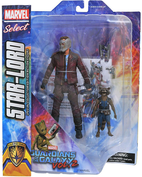 Guardians of the Galaxy Marvel Select Star-Lord & Rocket Raccoon Action Figure